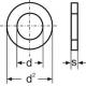 Podložka plochá M18 zn